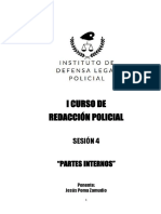 4° SESION DEL CURSO DE REDACCIÓN POLICIAL - PARTES INTERNOS