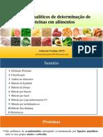 Aula - Determinação de Proteínas