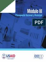 Modulo III Analisis Presupuestario Nacional y Municipal