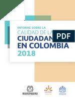 Informe Sobre Calidad de Ciudadania en Colombia 2018