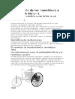 La Evolución de Los Neumáticos a Través de La Historia