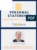 TopAdmit Personal Statement Principles