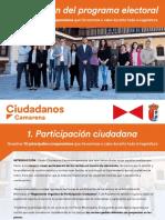 Presentacion Candidatura Cs Camarena - Programa electoral completo