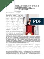 90 Aniversario de La Confederacion General de Trabajadores Del Peru- Discurso de Gerónimo López Sevillano, secretario general de la CGTP.