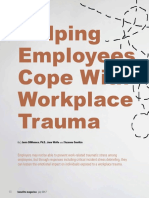 Helping Employees Cope With Workplace Trauma
