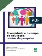 Diversidade e o campo da educação - relatos de pesquisa
