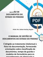 A Gestão de Documentos Do Estado Do Paraná
