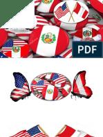 BANDERAS PERUANA NORTEAMMERICANA