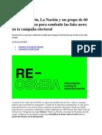 Infobae, Clarín, La Nación y Un Grupo de 60 Medios Se Unen Para Combatir Las Fake News en La Campaña Electoral - Infobae