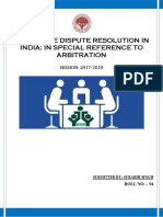 ALTERNATE DISPUTE RESOLUTION IN INDIA.docx