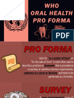 WHO ORAL HEALTH ASSESSMENT FORM