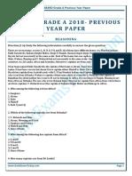NABARD Grade a 2018 Previous Year Paper 1