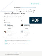 Group acceptance and commitment therapy (ACT) for bipolar disorder and co-existing anxiety – an open pilot study