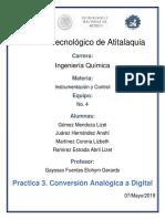 Conversion Analogica a Digital