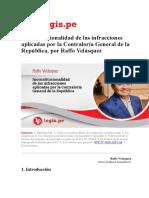 Inconstitucionalidad de Las Infracciones Aplicadas Por La Contraloría General de La República