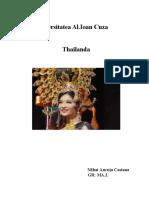 Proiect Management Thailanda An3