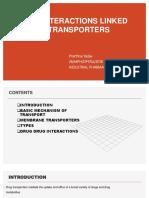 drug interaction linked to drug transporter