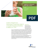 APP Analysis of Quaternary Ammonium Compounds in Milk by LC TOF 012225 01