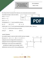 Devoir de contrôle N°5 - Math - 1ère AS  (2010-2011) Mr bourokba 4 (2)