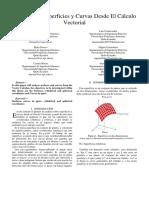 Análisis de Superficies y Curvas Desde El Cálculo Vectorial Paper.