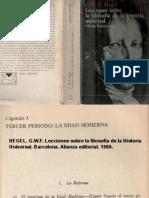 HEGEL-TERCER PERÍODO LA EDAD MODERNA