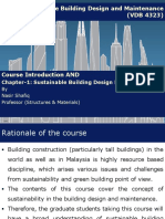 Sustainability and Building Design