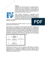 Tipos de organización formal
