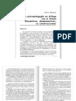 90-91 APRENDIZAJE HOY N° 90-91 La Psicopedagogia en dialogo con el futuro, encuentros, desencuentros o co construcciones  SILVIA BAEZA