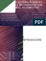 Testarea Automată Pentru Sistemele Încorporate Din Domeniul Automotive