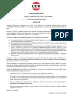 Resolución Convención UCR