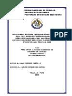 Relacion Del Material Particulado Menor de 10 Micras (Pm10) y Del Dioxido de Nitrogeno (No2) de Trujillo, 2005