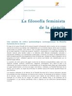 La filosofia feminista de la ciencia