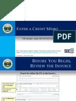 Invoicing Module 6 - Enter a Credit Memo