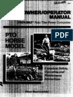 Troybilt Horse Pto Models