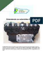 Transmissão GM Entendendo Os Solenóides GM 6T40 C.A.B