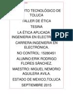 Aplicaciones de La Ética en Ing.elca
