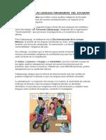 Defensas de Las Lenguas Originarias Del Ecuador