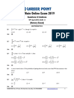JEE Main 2019 Paper 1 April 10 Afternoon Maths