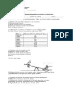 Prueba de Diagnóstico de Física 1º Medio