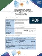 Guía de Actividades y Rúbrica de Evaluación - Fase 5 - Evaluación