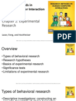 Research Methods in Human-Computer Interaction Second Edition Lazar, Feng, and Hochheiser Chapter 2