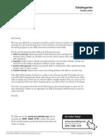 k family letter-second step