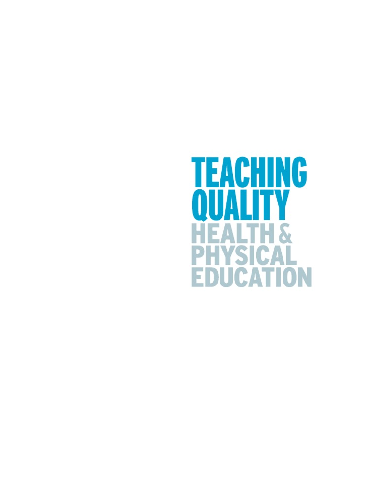 Teaching Quality Health And Physical Education Pdf