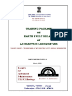 Taining Package on Earth Fault Relays of AC Electric Locomotive(1)