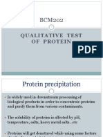 Precepitation of Proteins