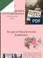 Teoría feminista contemporánea