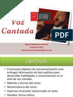 CLASE Voz Cantada 2015