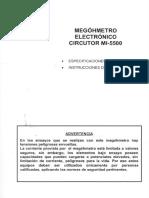 Megóhmetro Electronico Circutor Mi-5500