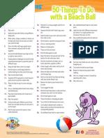 50 Things Beach Ball