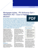 Mortgagee Duties PK Airfinance Sarl v Alpstream AG Court of Appeal Decision 6030670